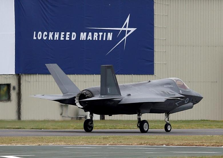 FILE PHOTO -  A RAF Lockheed Martin F-35B fighter jet taxis along a runway after landing at the Royal International Air Tattoo at Fairford, Britain July 8, 2016.  REUTERS/Peter Nicholls/File Photo