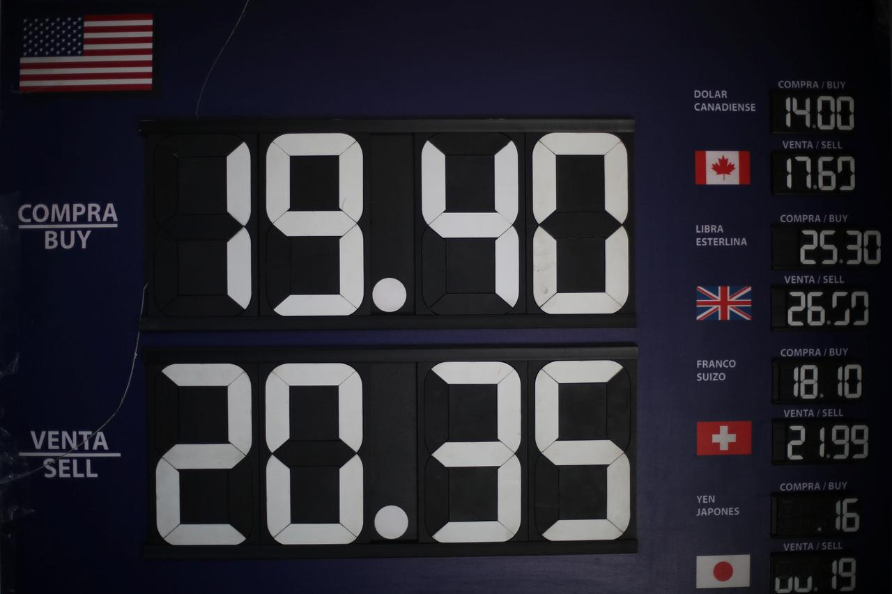 A Board Displaying Exchange Rates Is Seen At Foreign House In Mexico City February 3 2017 Reuters Edgard Garrido