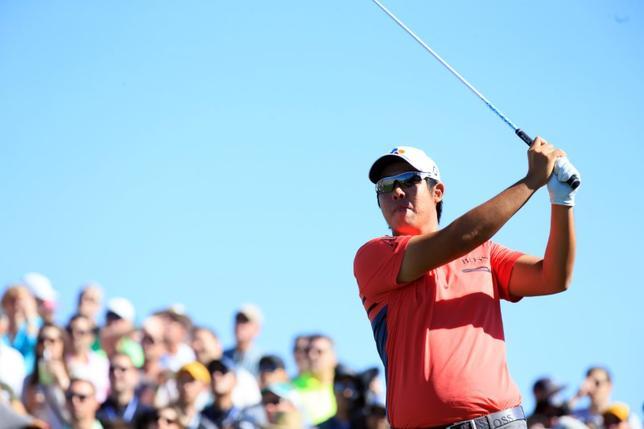 2月4日、米男子ゴルフのフェニックス・オープン第3ラウンド、安秉勲が65でラウンドし、通算16アンダーで単独首位(2017年 ロイター/Allan Henry-USATODAY Sports)