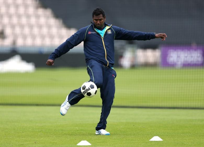 Britain Cricket - Sri Lanka Nets - The Ageas Bowl - 4/7/16Sri Lanka?s Angelo Mathews during netsAction Images via Reuters / Matthew ChildsLivepic