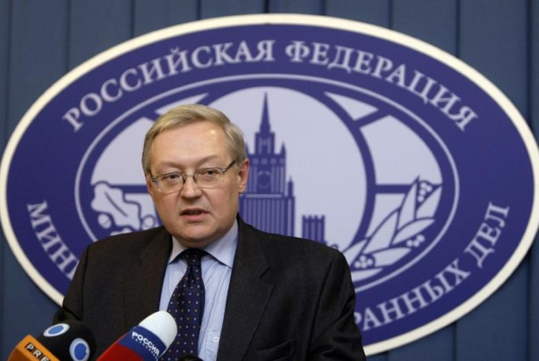 Russia's Deputy Foreign Minister Sergei Ryabkov speaks during a news briefing in the main building of Foreign Ministry in Moscow, December 15, 2008. REUTERS/Denis Sinyakov/Files