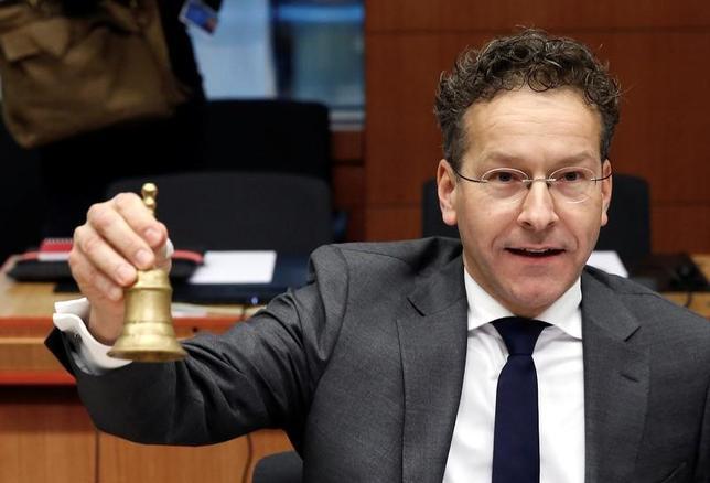 2月7日、ユーロ圏財務相会合(ユーログループ)のデイセルブルム議長(写真)は、ギリシャの債務状況に関する国際通貨基金(IMF)の最新報告について、驚くほど悲観的だと述べた。写真はブリュッセルで昨年11月撮影(2017年 ロイター/Yves Herman)