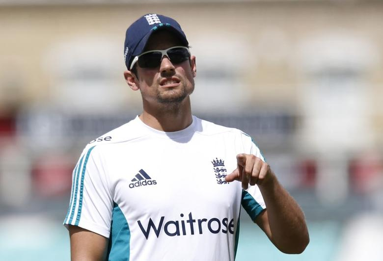 Britain Cricket - England Nets - Kia Oval - 9/8/16 England's Alastair Cook during nets Action Images via Reuters / Paul Childs Livepic