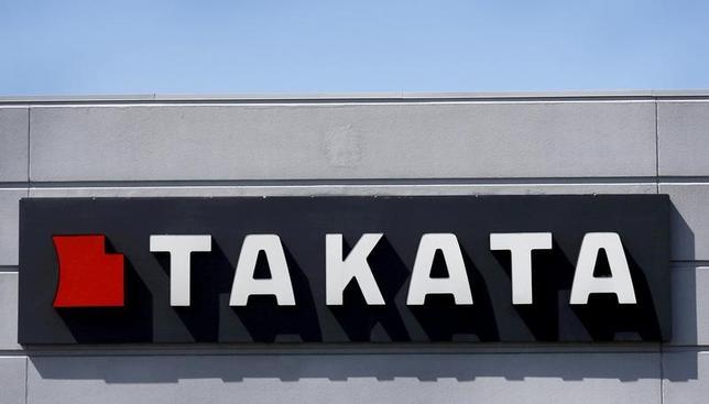 2月10日、タカタは、2017年3月期の連結純損益が640億円の赤字になる見通しと発表した。欠陥エアバッグ問題に伴う米国での司法取引に関連した損失を特別損失に計上したことなどが響く。写真の同社ロゴは米ミシガン州のタカタ・コーポレーションで、2015年5月撮影(2017年 ロイター/Rebecca Cook)