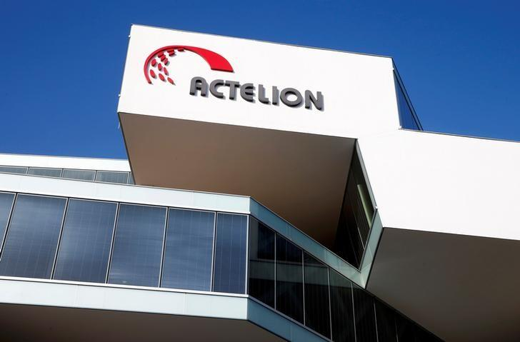 The company's logo is seen at the headquarters of Swiss biotech company Actelion in Allschwil, Switzerland January 26, 2017. REUTERS/Arnd Wiegmann