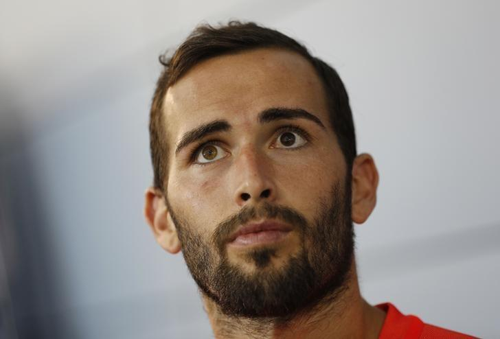 Britain Football Soccer - Barcelona Training - St Georges Park National Football Centre, Burton-upon-Trent - 27/7/16Barcelona's Aleix Vidal during a mixed zone after trainingReuters / Darren StaplesLivepic/Files