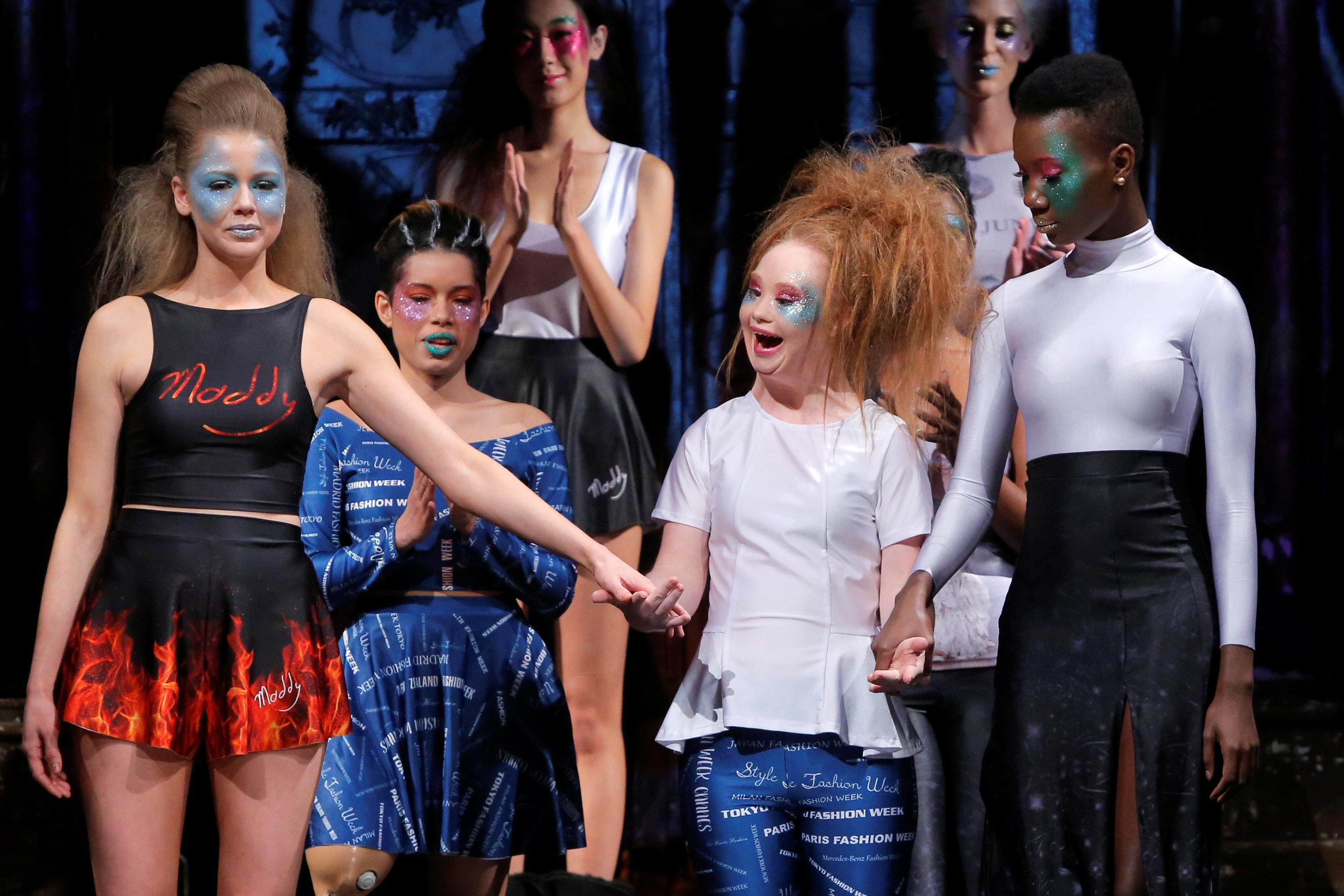 Model with Down syndrome launches design label at New York Fashion ... 49681212e