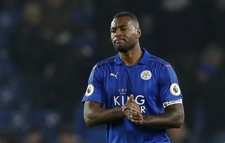 Britain Soccer Football - Leicester City v Manchester United - Premier League - King Power Stadium - 5/2/17 Leicester City's Wes Morgan looks dejected after the game  Action Images via Reuters / Carl Recine Livepic