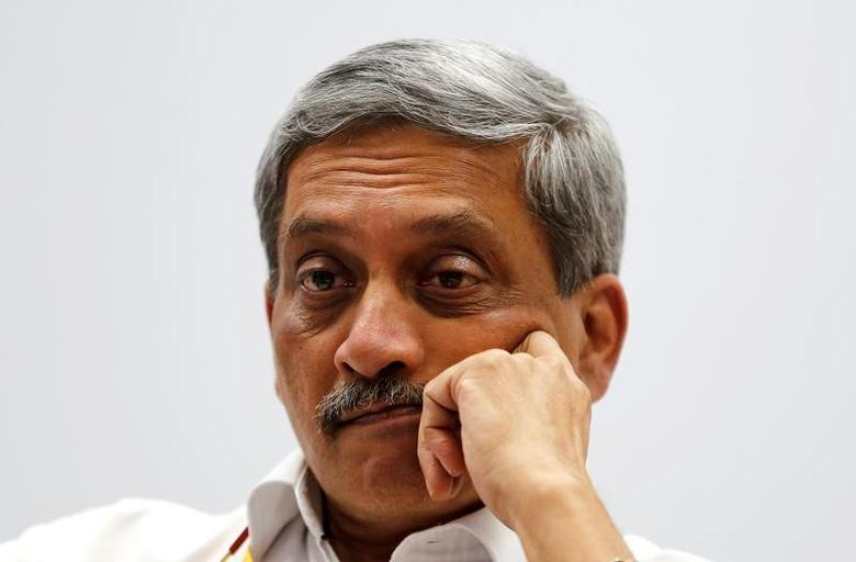 India's Defence Minister Manohar Parrikar  in Gandhinagar, India, January 12, 2017. REUTERS/Amit Dave