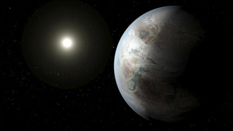 unearthed essay on alien life reveals churchill the scientist file photo an artist s concept depicts one possible appearance of the planet kepler 452b the first near earth size world to be found in the habitable zone