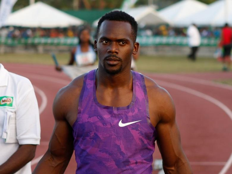 Athletics - Western Championships Track Meet - men's 4 x 100 meters relay - Montego Bay, Jamaica - 11/2/17 - Jamaica's Nesta Carter after competing. REUTERS/Gilbert Bellamy