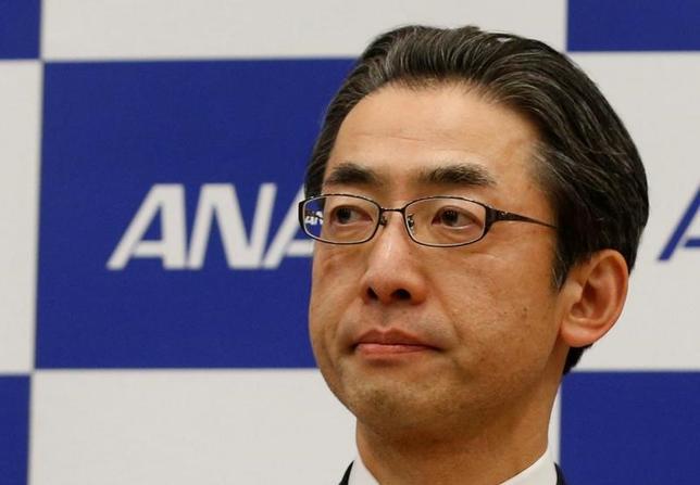 2月16日、ANAホールディングス傘下の全日本空輸は、ANAHDの平子裕志取締役(写真)が4月1日付で社長に就任すると発表した。都内で16日撮影(2017年 ロイター/Kim Kyung-Hoon)