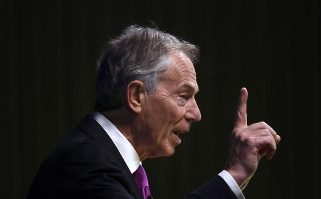 Former British Prime Minister Tony Blair delivers a keynote speech at a pro-Europe event in London, Britain, February 17, 2017. REUTERS/Toby Melville