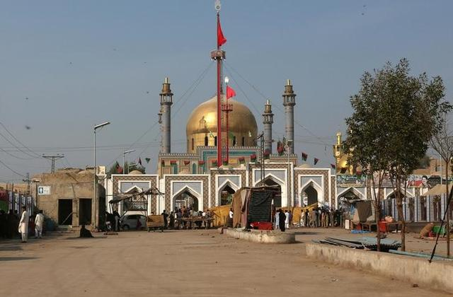 A deserted view of the tomb of Sufi saint Syed Usman Marwandi, also known as the Lal Shahbaz Qalandar shrine, after it was closed for general public following Thursday's suicide blast in Sehwan Sharif, Pakistan's southern Sindh province, February 17, 2017. REUTERS/Akhtar Soomro