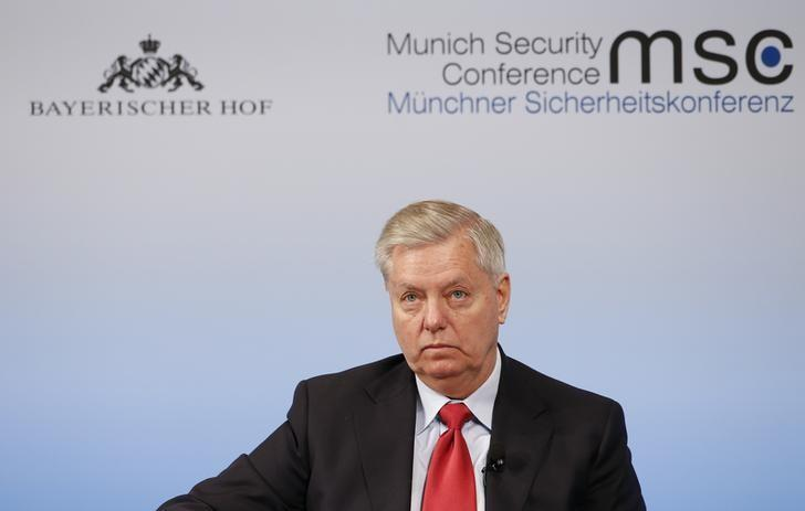 U.S Senator Lindsey Graham attends the 53rd Munich Security Conference in Munich, Germany, February 19, 2017. REUTERS/Michaela Rehle