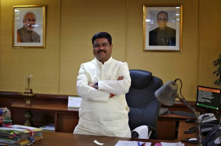 Oil Minister Dharmendra Pradhan poses after an interview with Reuters in New Delhi, India, May 5, 2016. REUTERS/Adnan Abidi/File Photo