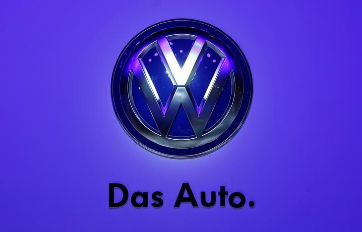 The Volkswagen logo is seen at the Frankfurt Motor Show (IAA) in Frankurt, Germany, September 10, 2013.     REUTERS/Pawel Kopczynski/File Photo