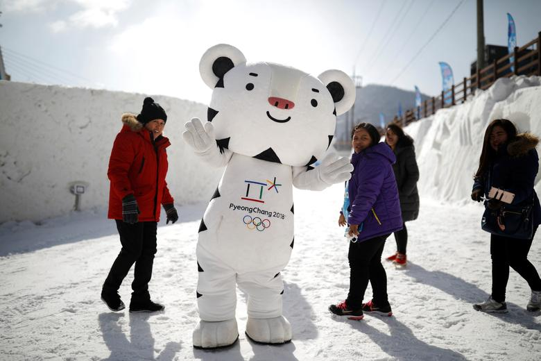 The mascot for the 2018 PyeongChang Winter Olympics Soohorang is seen during the Pyeongchang Winter Festival, near the venue for the opening and closing ceremony of the PyeongChang 2018 Winter Olympic Games in Pyeongchang, South Korea, February 10, 2017.  REUTERS/Kim Hong-Ji