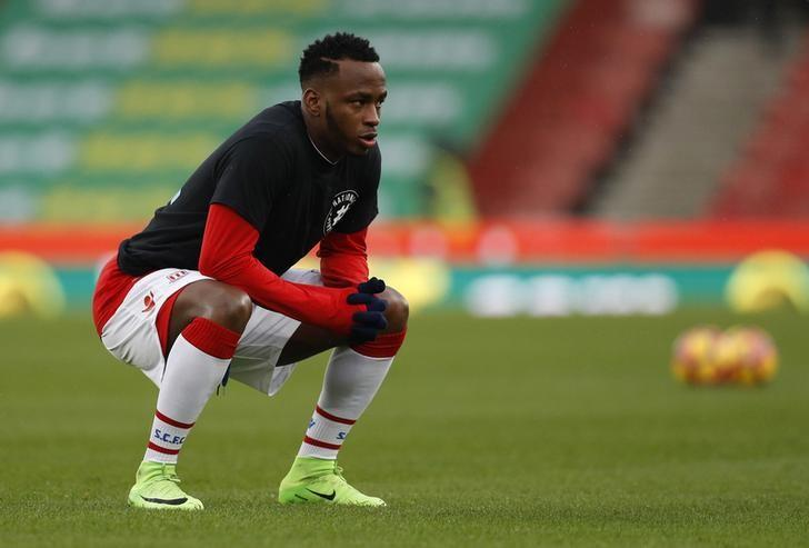 Britain Soccer Football - Stoke City v Crystal Palace - Premier League - bet365 Stadium - 11/2/17 Stoke City's Saido Berahino warms up before the match  Reuters / Darren Staples Livepic