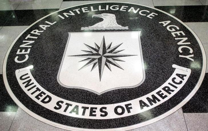 File Photo - The logo of the U.S. Central Intelligence Agency is shown in the lobby of the CIA headquarters in Langley, Virginia  March 3, 2005.