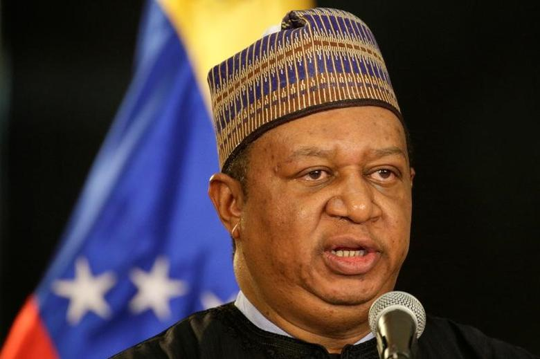 OPEC Secretary General Mohammed Barkindo talks to the media after his meeting with Venezuela's President Nicolas Maduro at Miraflores Palace in Caracas, Venezuela January 16, 2017. REUTERS/Marco Bello/File Photo