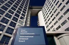 The entrance of the International Criminal Court (ICC) is seen in The Hague, Netherlands, March 3, 2011. REUTERS/Jerry Lampen/File Photo
