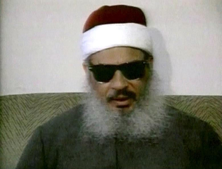 FILE PHOTO - Egyptian Omar Abdel-Rahman speaks during a news conference in this still image taken from February 1993 video footage in New York, U.S. on January 18, 2013.  REUTERS/Reuters TV