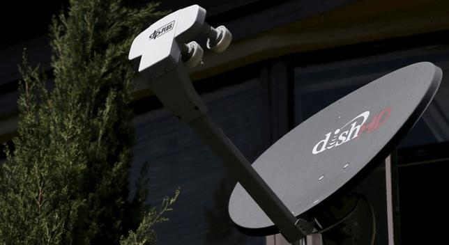 FILE PHOTO -  A satellite dish from Dish Network is pictured in Los Angeles, U.S., April 20, 2016. REUTERS/Mario Anzuoni/File Photo