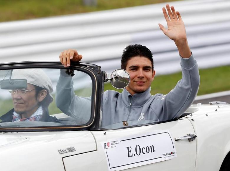 Formula One - Japanese Grand Prix - Suzuka Circuit, Japan- 9/10/16.  Esteban Ocon of France attends the drivers parade. REUTERS/Toru Hanai