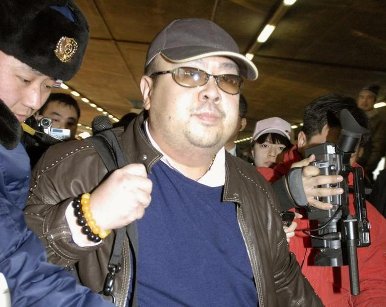 Kim Jong Nam arrives at Beijing airport in Beijing, China, in this photo taken by Kyodo February 11, 2007.  Kyodo/via REUTERS