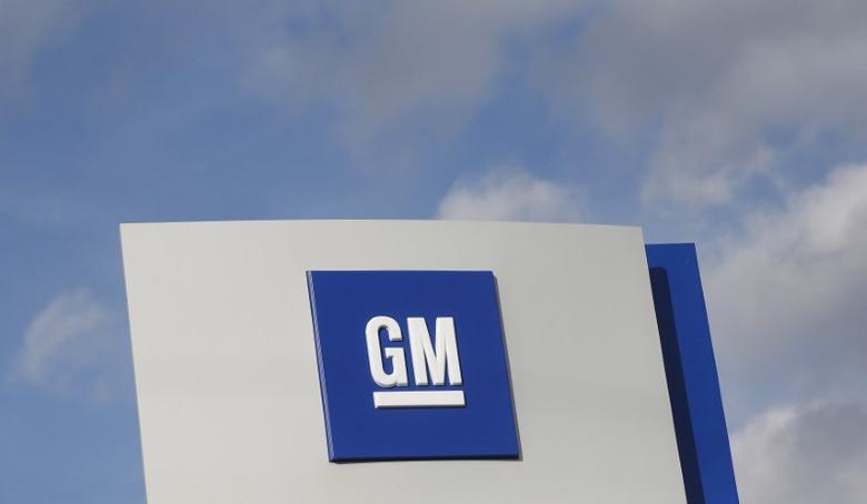 FILE PHOTO -  The GM logo is seen in Warren, Michigan, U.S. on October 26, 2015.   REUTERS/Rebecca Cook/File Photo