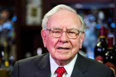 FILE PHOTO - Warren Buffett, Chairman, CEO and largest shareholder of Berkshire Hathaway takes part in interviews before a fundraising luncheon for the nonprofit Glide Foundation in New York, U.S. on September 8, 2015.  REUTERS/Lucas Jackson/File Photo