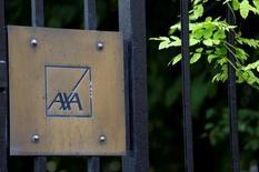 Axa France, la filiale française de l'assureur Axa, réfléchit à l'avenir de ses activités de banque en ligne et a lancé un audit sur sa filiale Axa Banque. /Photo d'archives/REUTERS/Jacky Naegelen
