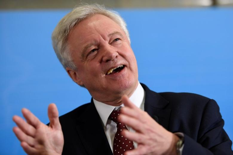 British Secretary of State for Exiting the European Union, David Davis during a press conference at Rosenbad in Stockholm, Sweden February 14, 2017. TT News Agency/Maja Suslin via REUTERS