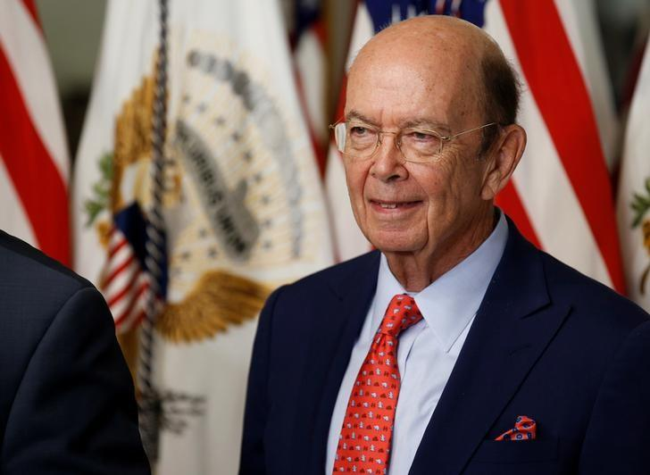 Wilbur Ross stands after being sworn in as Secretary of Commerce in Washington, DC, U.S. February 28, 2017. REUTERS/Joshua Roberts/Files