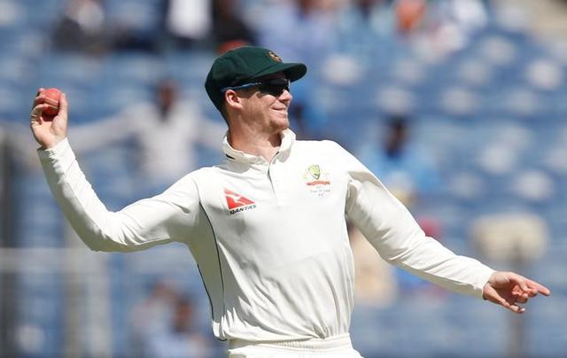 Australia's captain Steven Smith throws a ball. REUTERS/Danish Siddiqui