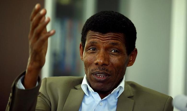 Haile Gebrselassie, former Ethiopia's long distance runner and Olympic champion, speaks during an interview with Reuters in his office  in Addis Ababa, Ethiopia November 7, 2016. REUTERS/Tiksa Negeri