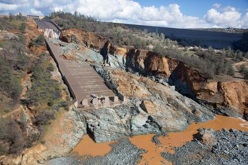 Massive damage at California dam