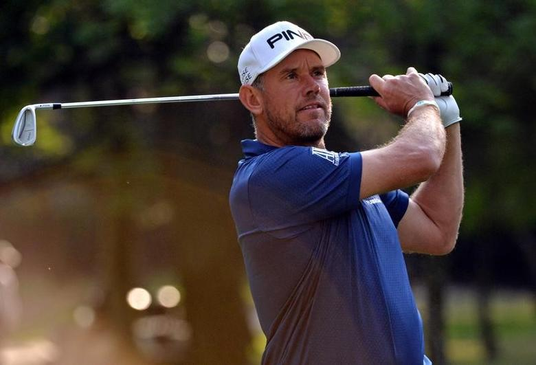 Mar 2, 2017; Mexico City, MEX; Lee Westwood plays his shot from the seventh tee during the first round of the WGC - Mexico Championship golf tournament  at Club de Golf Chapultepec. Mandatory Credit: Orlando Ramirez-USA TODAY Sports