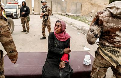 Triage in a Mosul field hospital
