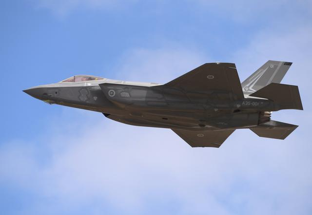 A Lockheed Martin Corp F-35 stealth fighter jet flies during a display at the Avalon Airshow in Victoria, Australia, March 3, 2017. AAP/Tracey Nearmy/via REUTERS