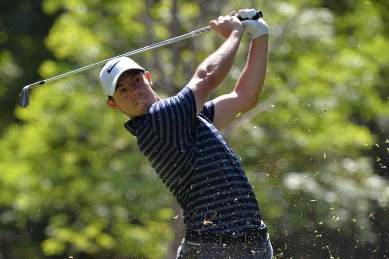 Mar 3, 2017; Mexico City, MEX; Rory McIlroy plays his shot from the seventh tee during the second round of the WGC - Mexico Championship golf tournament  at Club de Golf Chapultepec. Mandatory Credit: Orlando Ramirez-USA TODAY Sports
