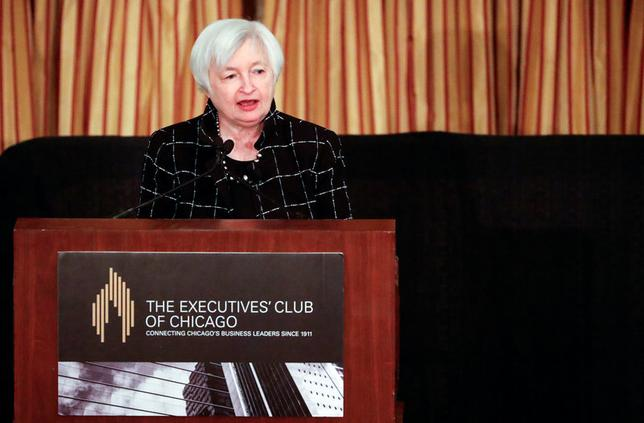 Federal Reserve Chair Janet Yellen addresses the Executives Club of Chicago in Chicago, Illinois, U.S., March 3, 2017.REUTERS/Kamil Krzaczynski