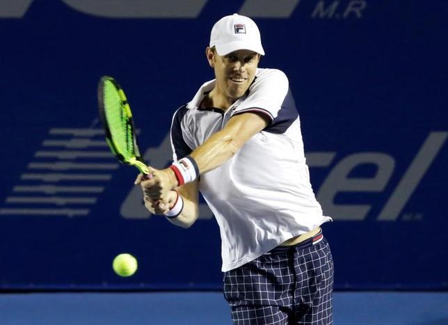3月4日、テニスのメキシコ・オープン男子シングルス決勝、サム・クエリー(写真)は世界ランク6位で第2シードのラファエル・ナダルを6─3、7─6で下し、優勝した(2017年 ロイター/Henry Romero)