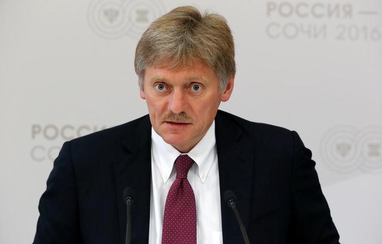Kremlin spokesman Dmitry Peskov speaks during a news briefing on the sidelines of the Russia-ASEAN summit in Sochi, Russia, May 19, 2016. REUTERS/Sergei Karpukhin