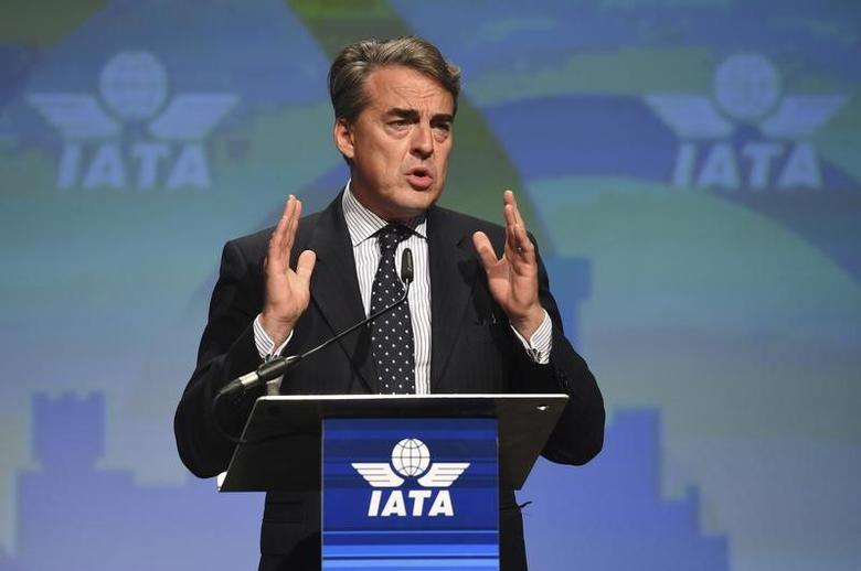 Alexandre de Juniac speaks after he is appointed as the new Director General of IATA at the 2016 International Air Transport Association (IATA) Annual General Meeting (AGM) and World Air Transport Summit in Dublin, Ireland June 3, 2016. REUTERS/Clodagh Kilcoyne