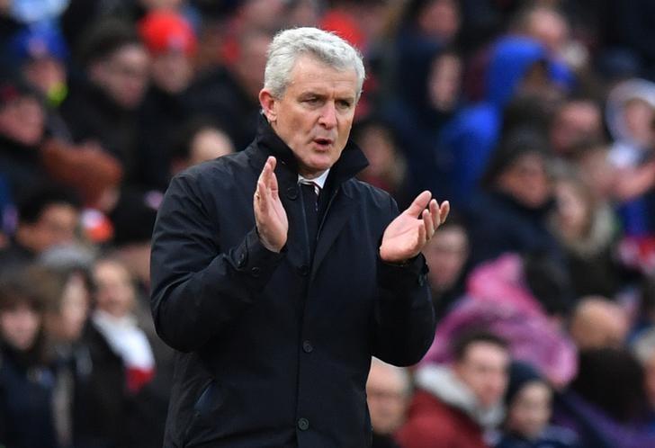 Britain Soccer Football - Stoke City v Middlesbrough - Premier League - bet365 Stadium - 4/3/17 Stoke City manager Mark Hughes  Reuters / Anthony Devlin Livepic