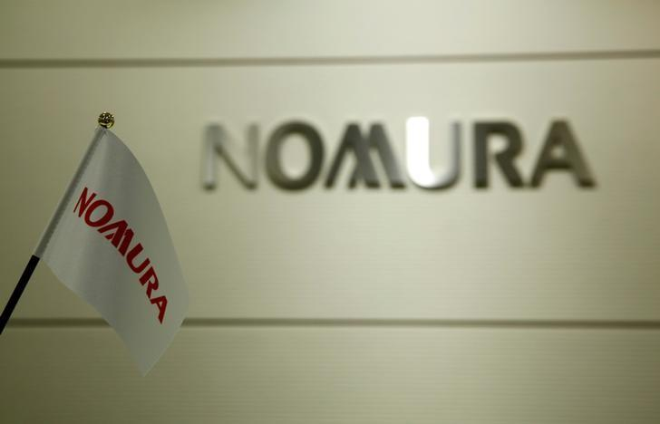 FILE PHOTO- The logo of Nomura Securities is pictured at the company's Otemachi Head Office in Tokyo, Japan, November 18, 2016. REUTERS/Toru Hanai/File Photo