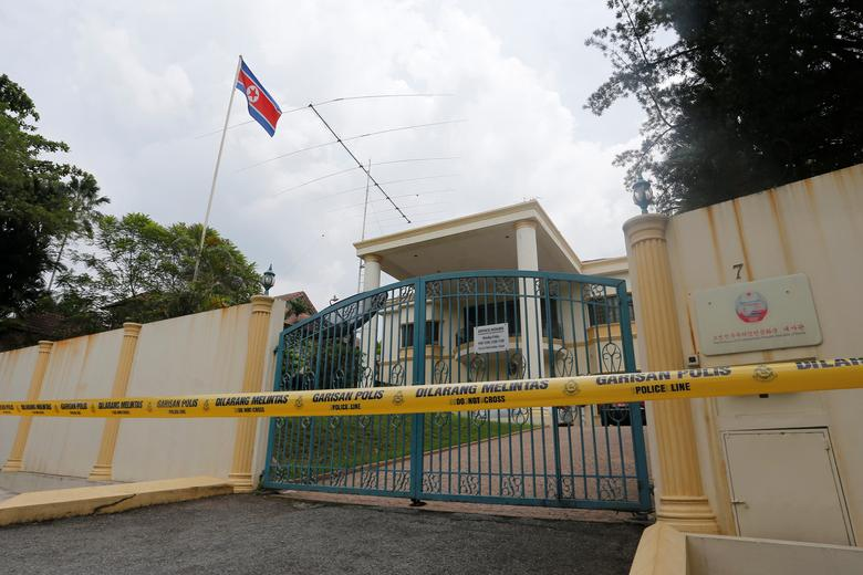 A view of the North Korea embassy that has been sealed off in Kuala Lumpur, Malaysia March 7, 2017. REUTERS/Lai Seng Sin