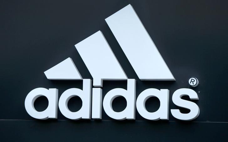 The logo of Adidas is seen on a store in Yerevan, Armenia, June 23, 2016. REUTERS/David Mdzinarishvili/File Photo